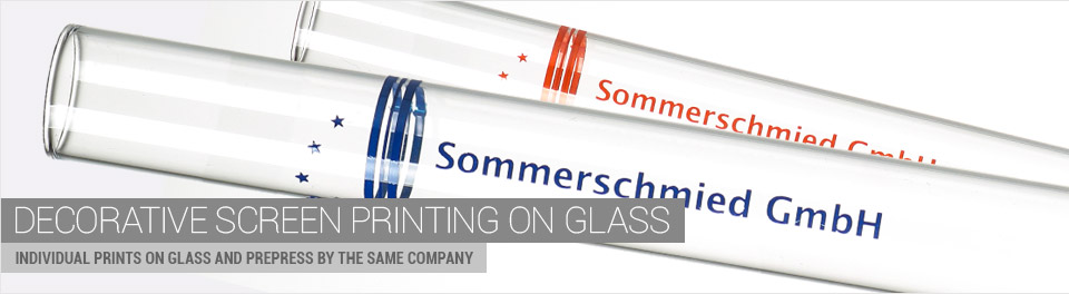 Printed glasstubes - sample test tube logo ad - sample vial